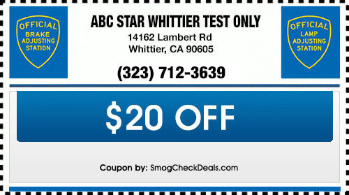 Abc Star Whittier Test Only Brake And Light Inspection